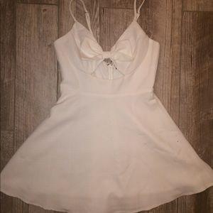 White Lulu's Homecoming Skater Dress